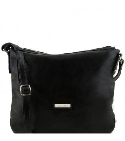 Borsa donna shopper in pelle - Nero