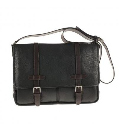 BORSA MESSENGER IN PELLE 73445 BLK