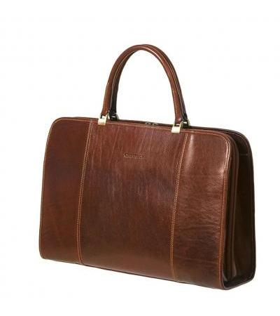 BORSA DUE MANICI IN PELLE 4528 BRW