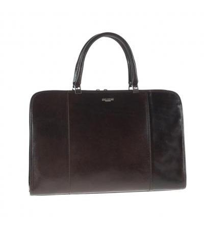 BORSA PORTADOCUMENTI IN PELLE 4528 DARK BRW