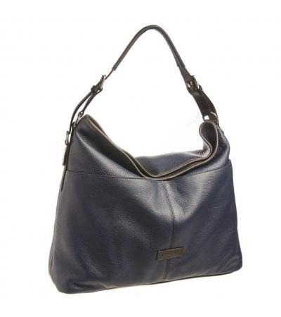 BORSA DONNA HOBO IN PELLE 73489 BLUE