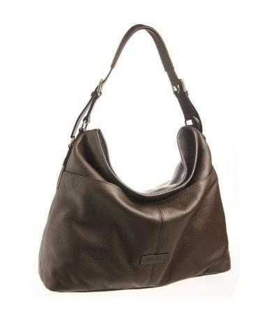 BORSA DONNA HOBO IN PELLE 73489 DARK BRW
