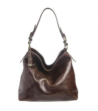 BORSA DONNA HOBO IN PELLE 93527 DARK BRW