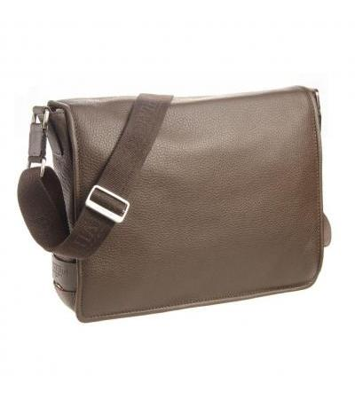 BORSA MESSENGER IN PELLE 72608 DARK BRW