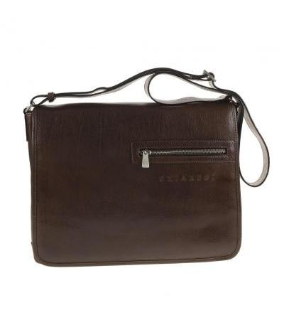 BORSA MESSENGER IN PELLE 94561 DARK BRW
