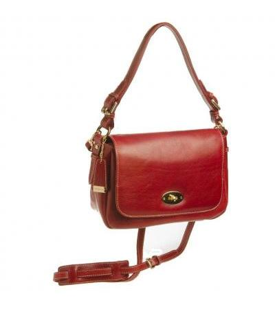BORSA TRACOLLA IN PELLE 93534 RED